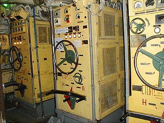Foxtrot-class submarine - Control room of a Foxtrot museum ship