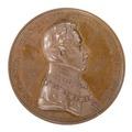 Framsida av medalj med bild av Oscar I i profil, 1837 - Skoklosters slott - 99254.tif