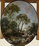 François Boucher - Landscape with Fisherman and a Young Woman - Walters 37839.jpg