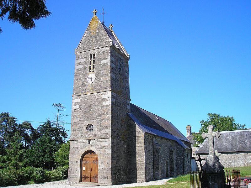 Beuvrigny (Normandie, France). L'église Saint-Martin.