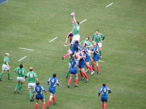 English: Ireland and France are contesting a l...