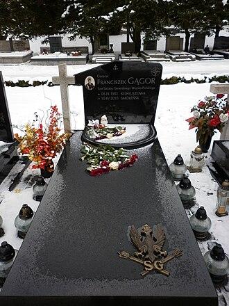 Franciszek Gągor - Grave of Franciszek Gągor at Military Powązki Cemetery, 2011