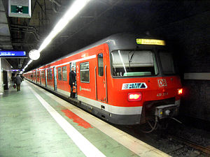S8 (Rhine-Main S-Bahn) - S8 at the airport station, bound for Wiesbaden