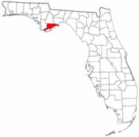 佛罗里达州富兰克林县地图