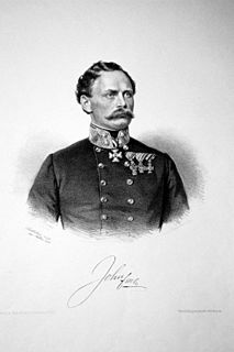 Franz von John Austrian general, Minister of War of Austrian Empire and Austria-Hungary (1815-1876)