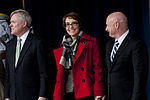 From left, Secretary of the Navy Ray Mabus, former U.S. Rep. Gabrielle Giffords and her husband, Mark Kelly, attend a ceremony to announce the U.S. Navy's naming of the newest littoral combat ship, USS 120210-D-TT977-098.jpg