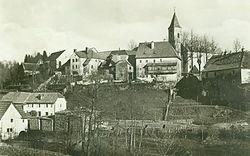 Fužine i Crkva sv. Antona Padovanskog. 26. kolovoza 1929..jpg