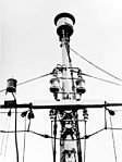 FuMO 81 Berlin radar antenna atop the foremast of the German heavy cruiser Prinz Eugen in 1945.jpg