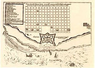 Casa Rosada - Map of the Fort of 1708, with the first trace of the little Buenos Aires on the top