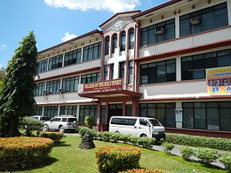 College of the Holy Spirit of Tarlac - The façade of the College Department building in F. Tañedo Street, Mabini, Tarlac City.