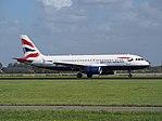 G-EUUS British Airways Airbus A320-232 landing at Schiphol (EHAM-AMS) runway 18R pic2.JPG