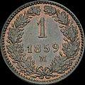 GOW 1 kreuzer 1859 M reverse.jpg