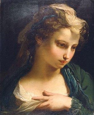 Gaetano Gandolfi - Image: Gaetano Gandolfi Retrato de mujer joven 1767 PN Bolonia
