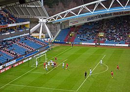 Galpharm (John Smith) Stadium, Huddersfield in actie.