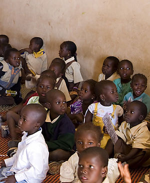 Education in the Gambia - Image: Gambia class
