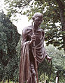 Gandhi statue, Indian Embassy, Washington D.C., 12389a.jpg