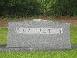 John Sidney Garrett - Garrett family tombstone in Haynesville, Louisiana