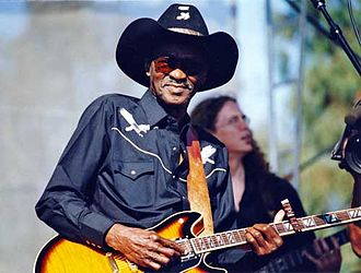 """Clarence """"Gatemouth"""" Brown - Brown at the Long Beach Blues Festival, 1996"""