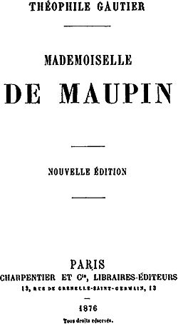 image illustrative de l'article Mademoiselle de Maupin (roman)