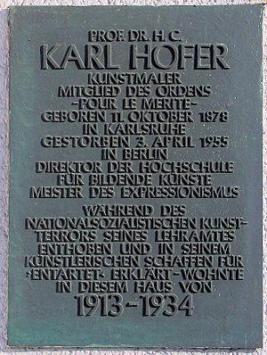 Hofer, Karl (1878-1955)