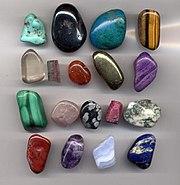 อัญมนี และ หินสีแบบต่างๆ