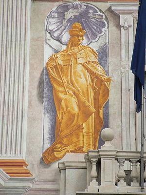 Simone Boccanegra - 19th century fresco probably intended to depict Simone Boccanegra, at Palazzo San Giorgio (Genoa).