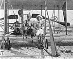 George A. Gray and wife in their Wright airplane- Ormond Beach, Florida (4005230202).jpg