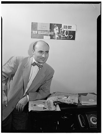 George Avakian - Promotional photo of George Avakian for Hot Jazz Classics Series, 1946
