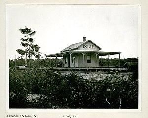 History of the Long Island Rail Road - George Bradford Brainerd (American, 1845–1887). Railroad Station, Islip, Long Island, ca. 1872–1887. Collodion silver glass wet plate negative. Brooklyn Museum