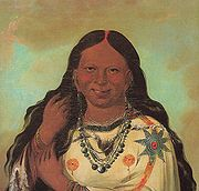 Georges Catlin, Kei-a-gis-gis, une femme des Ojibwa, 1832