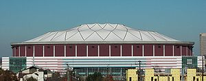 The south face of the Georgia Dome, a mutli-pu...