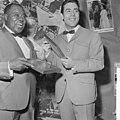 Gert Timmerman ontvangt gouden en diamanten plaat, Louis Armstrong en Gert Timme, Bestanddeelnr 917-8177.jpg