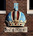 Gevelsteen Brouwersgracht 114- 118, ANo MDCXVIII (afbeelding van een kroon).JPG