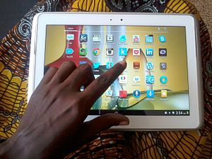 New media in Ghana - Image: Ghanaian using a tablet