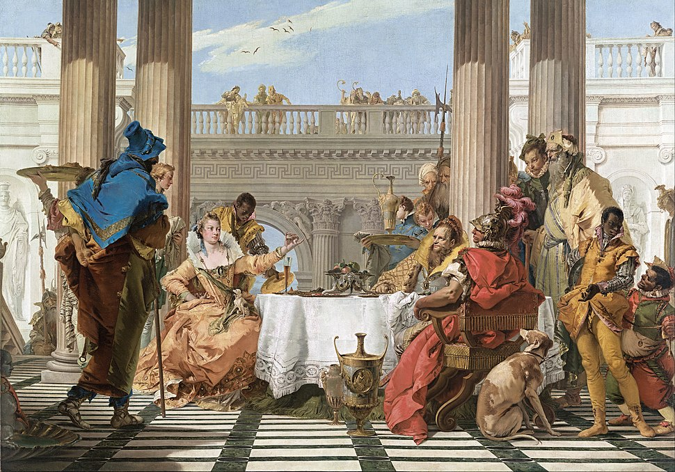 Giambattista Tiepolo - The Banquet of Cleopatra - Google Art Project