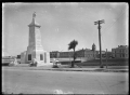 Gisborne War Memorial, and the Gisborne Post Office in the background with its clock tower. ATLIB 291573.png