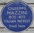 Giuseppe Mazzini 183 Gower Street blue plaque.jpg