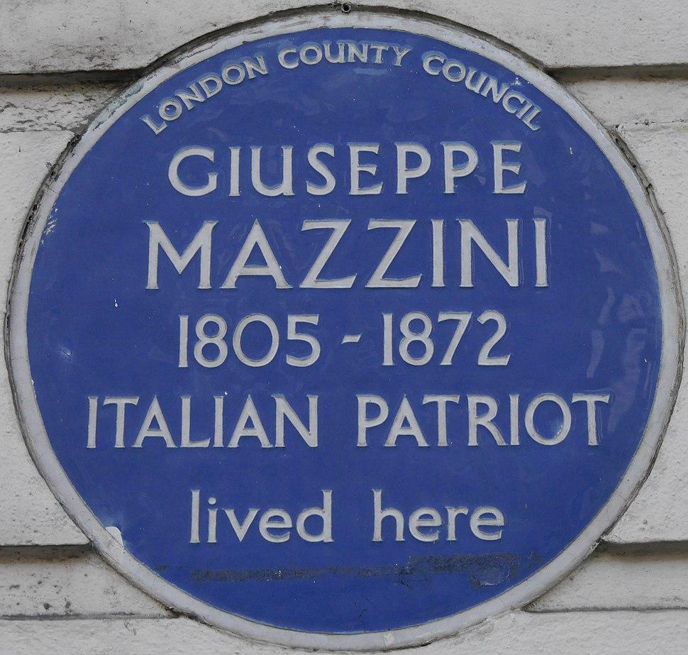 Giuseppe Mazzini 183 Gower Street blue plaque