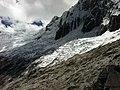 Glacier of Nevado Taulliraju Peak near Punta Union, Santa Cruz Track, Cordillera Blanca, Peru - panoramio (1).jpg