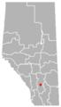 Gleichen, Alberta Location.png