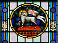 Glenbeigh St. James' Church Nave Triple Window Agnus Dei 2012 09 09.jpg