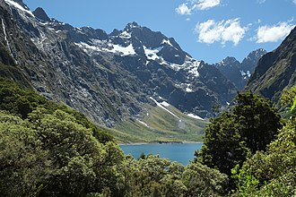 Fiordland National Park - Lake Marian in the Darren Mountains
