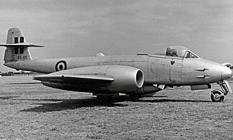 Fokker - Fokker-built Gloster Meteor of the Belgian Air Force in 1955