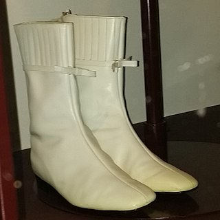 Go-go boot low-heeled style of womens fashion boot first introduced in the mid-1960s