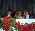 Gov. Rockefeller, right, with Mrs. Hope and David Eisenhower at benefit for medical center in New York.jpg