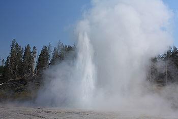 Grand Geyser nel parco di Yellowstone