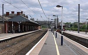 Grantham railway station - Image: Grantham railway station MMB 53
