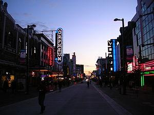 Granville Entertainment District - Granville Entertainment District, looking south.