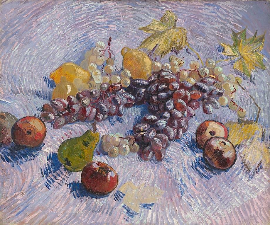 Grapes, Lemons, Pears, and Apples 1887 Vincent van Gogh