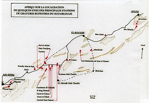 Rock art of south Oran (Algeria) - The principal localities of engravings of South Oran.